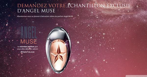 Échantillon gratuit Parfum Angel MUSE de Mugler à recevoir