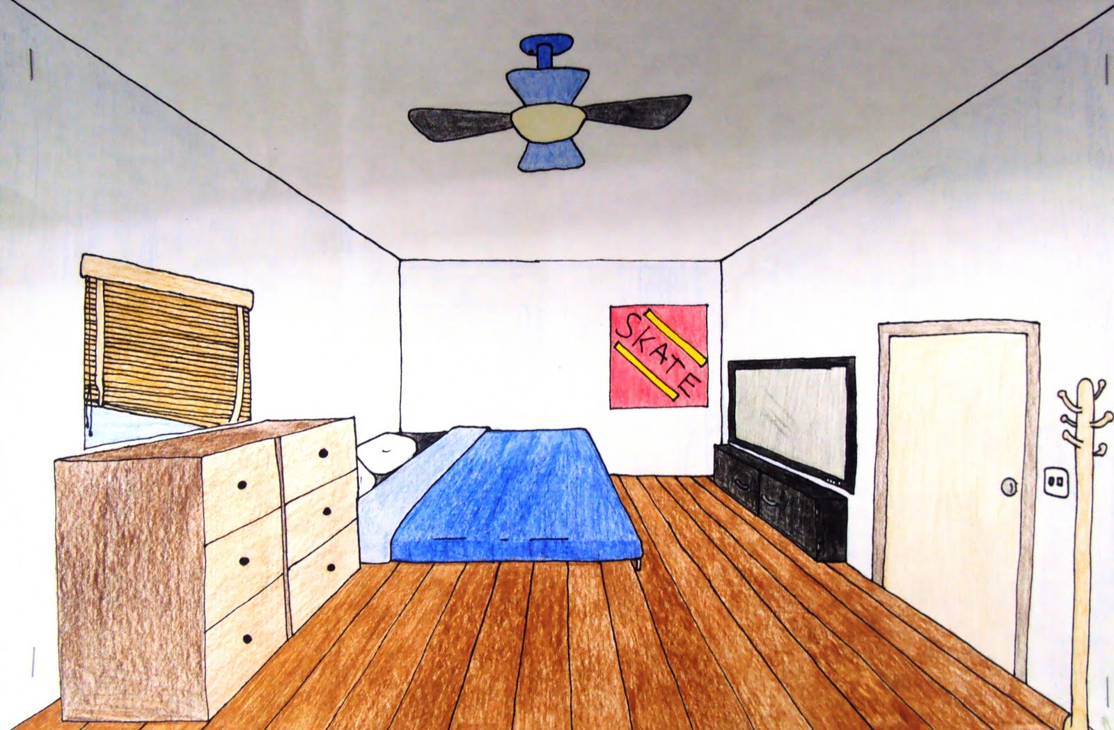Art 1 One Point Perspective Room