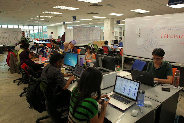 Working environment of Lazada Malaysia