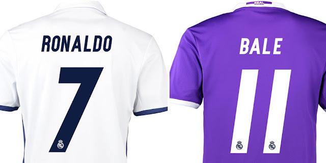 Real Madrid rilis Nomor Punggung Skuat 2016/17