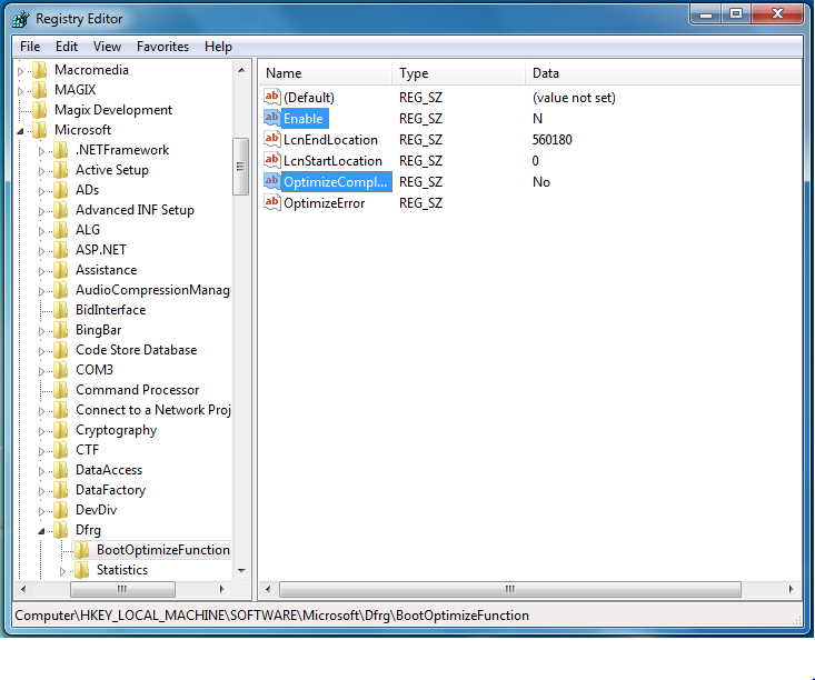 How to Disable Automatic Defragmentation at start up and boot time