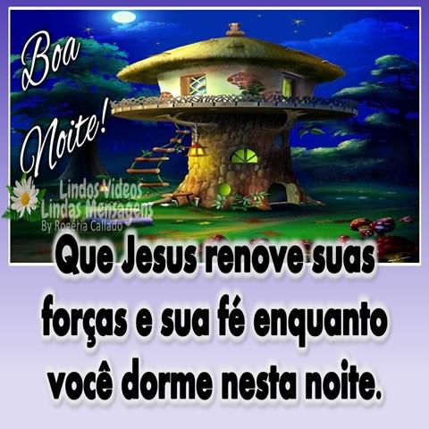 Que Jesus renove suas   forças e sua fé enquanto   você dorme nesta noite.  Boa Noite!