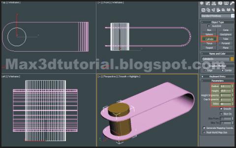Cylinder basic model 3ds max