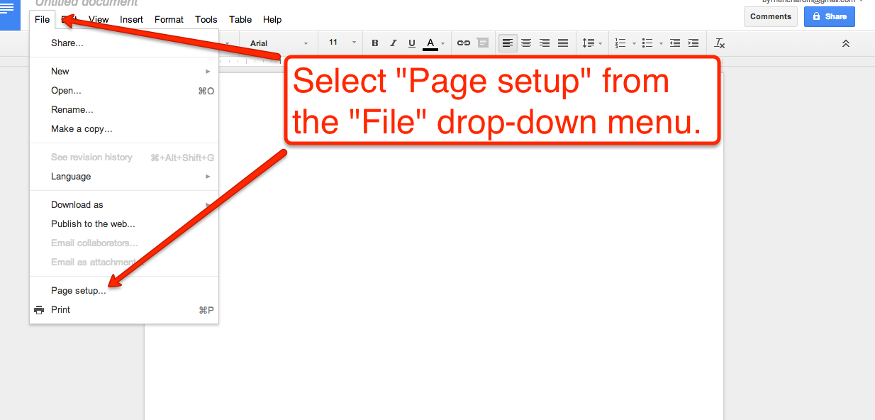 In The Page Setup Menu You Can Also Adjust Default Layout Settings For Your Google Documents I Have Included Screenshots Of Process Below