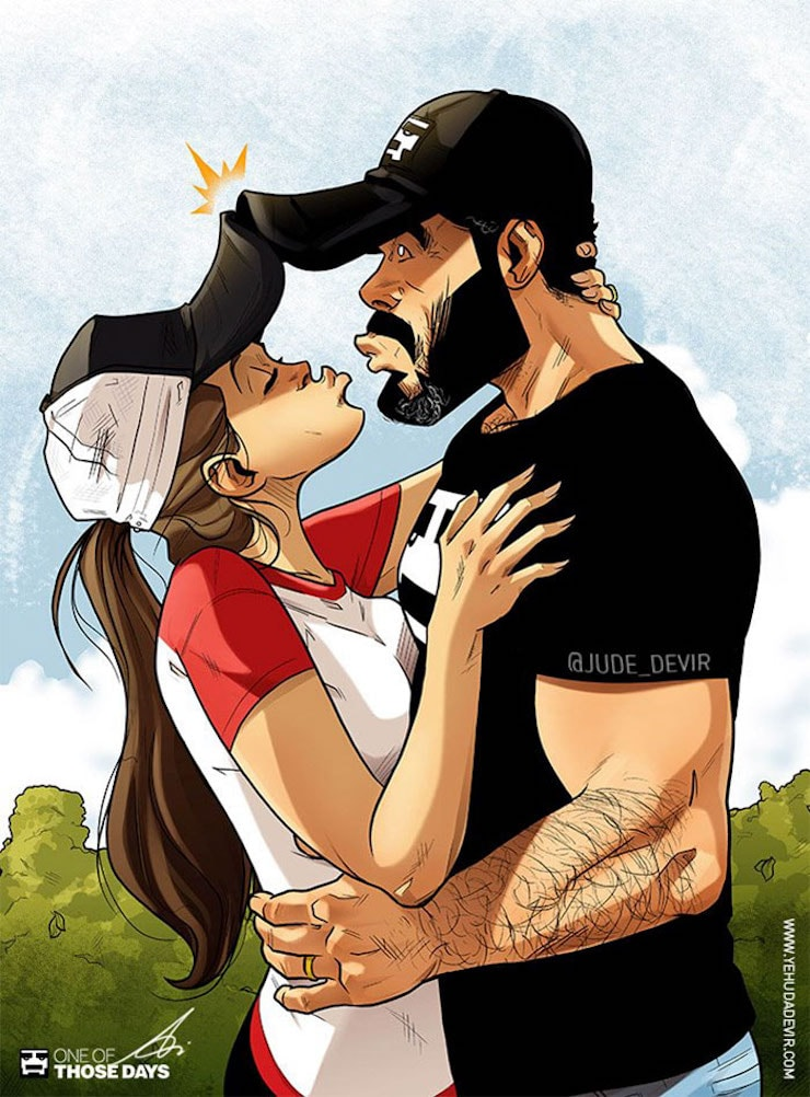Yehuda-Adi-Devir-artista-ilustra-su-vida-en-pareja