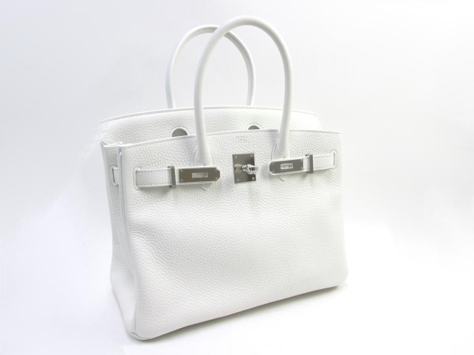 34c224bd7e1e Blanc. 30 CM Birkin in White. Clemence Leather. Palladium Hardware