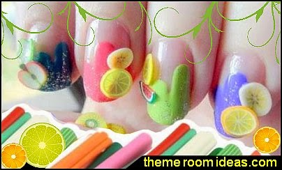 fruit nail art - fruit nail designs - fruit nail art -  fruit slice nail art design ideas