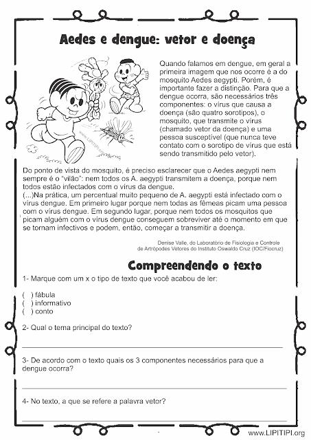 Atividade Projeto Dengue Segundo ciclo Fundamental I