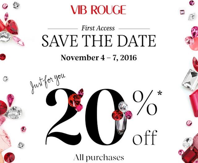 Sephora VIB Rouge Members 20% OFF Coupon Code Sale 2016