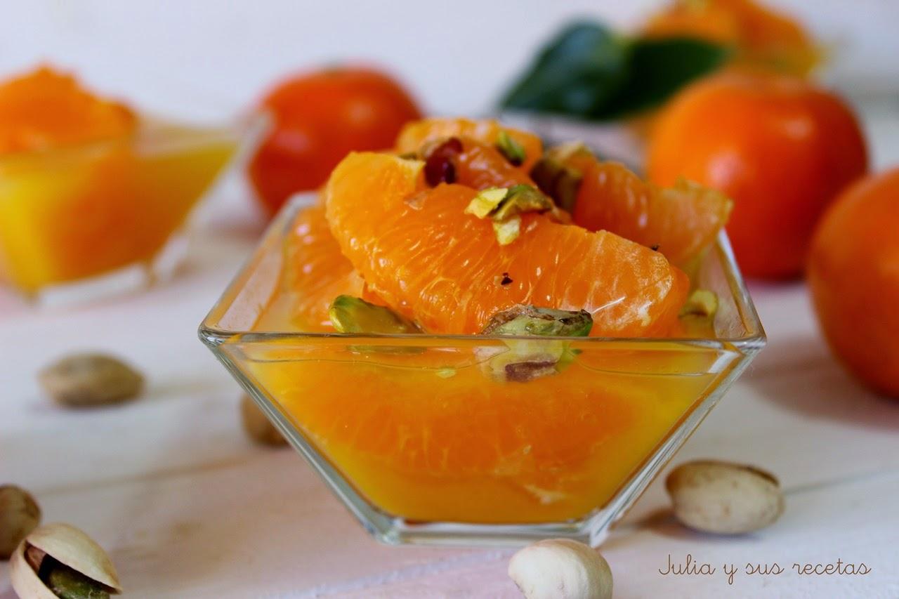 Mandarinas al licor. Julia y sus recetas