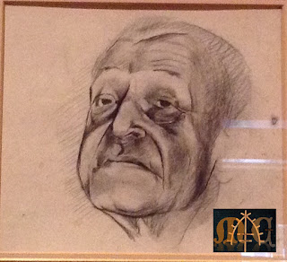 Graham Sutherland's Sketches of W. Somerset Maugham - another head