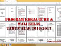 Contoh Program Kerja Guru dan Wali Kelas Tahun Ajar 2016/2017