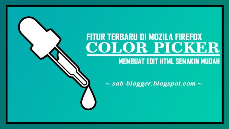 Edit CSS Lebih Mudah Dengan Mozila Firefox Color Picker