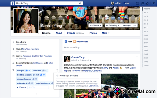 Facebook 2015 layout design