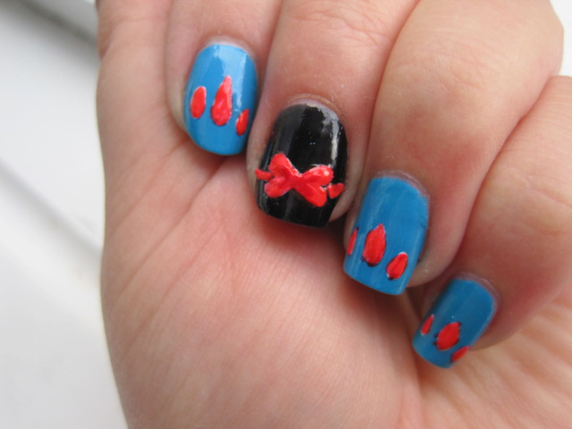 wonderful nails, nail with, snow white on nails