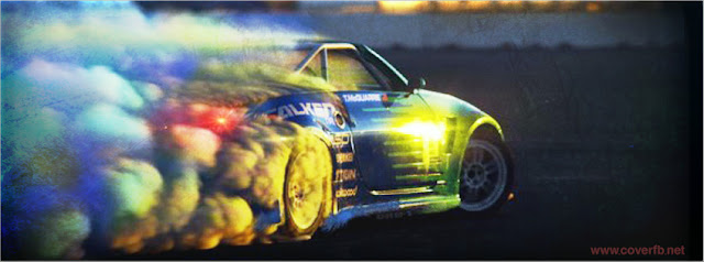 car drift facebook cover