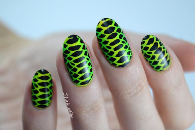 snake skin pattern furious filer #31dc2016 neon green