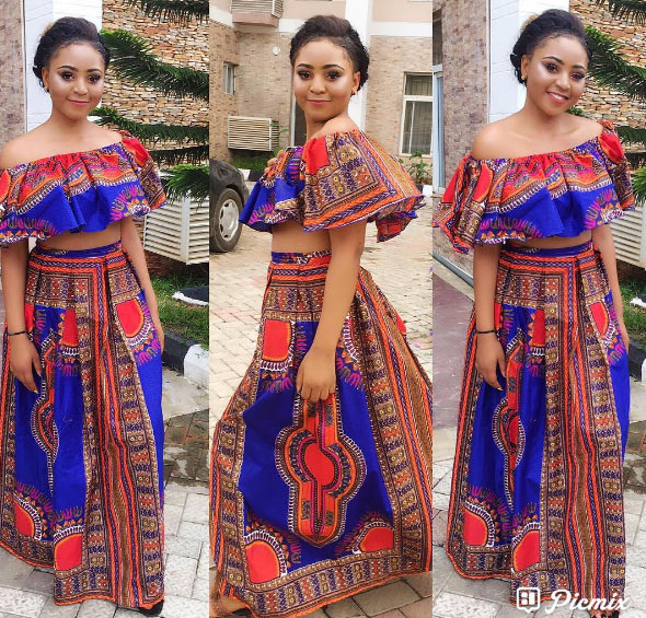 Hit or miss? 16-year-old actress Regina Daniels in crop-top ankara outfit