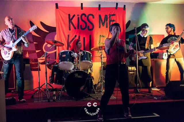 Kiss Me, Killer performing at The Dragonffli, Pontypool, Wales 29/7/2017