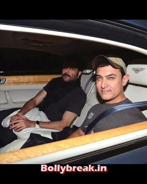 Salman's close friends Aamir Khan and Anil Kapoor arrived together for his bash., Salman Khan Birthday bash Pics