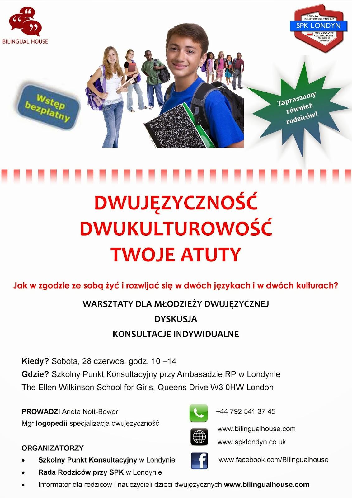 Warsztaty dla młodziezy dwujęzycznej w Londynie