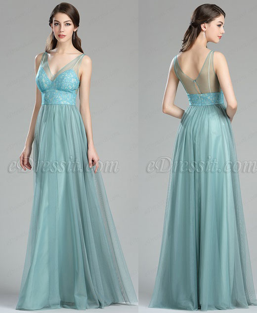 eDressit Beautiful Green Lace Going Out Bridesmaid Dress