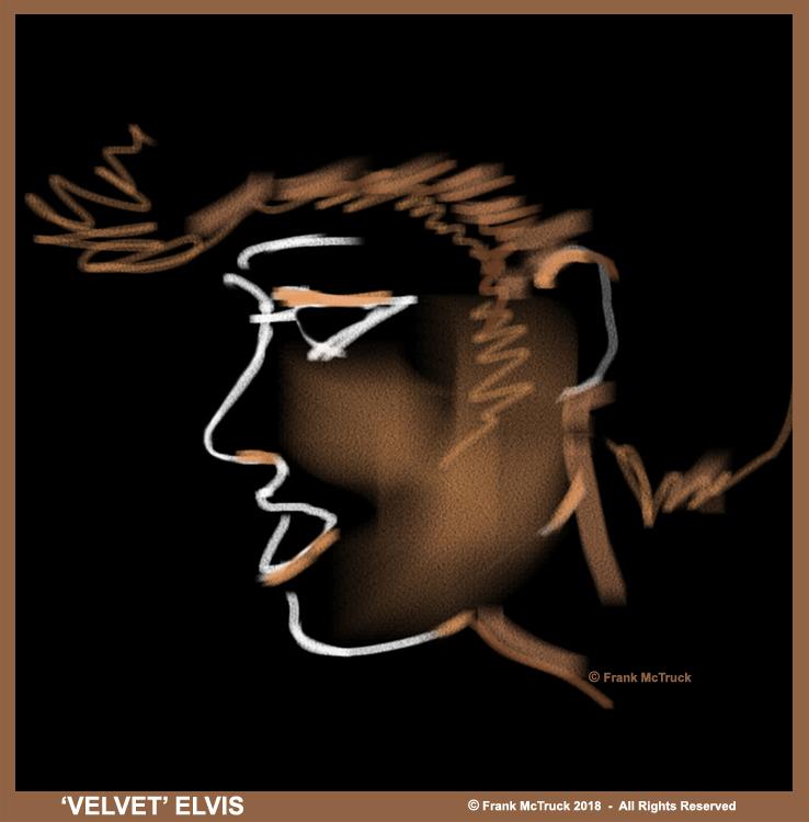 Frank McTruck velvet painting - 'Elvis'