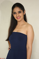 Radhika Mehrotra in sleevless Strap less Blue Gown At Prema Entha Madhuram Priyuraalu Antha Katinam Movie Interview ~  Exclusive 083.JPG