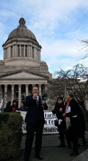 Paul Addis at Washington State capitol Olympia 2016