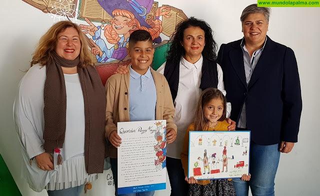 Leire Martín y Alberto Fernández ganan el concurso escolar de tarjetas navideñas y cartas a los Reyes Magos convocado por el Ayuntamiento de Los Llanos de Aridane