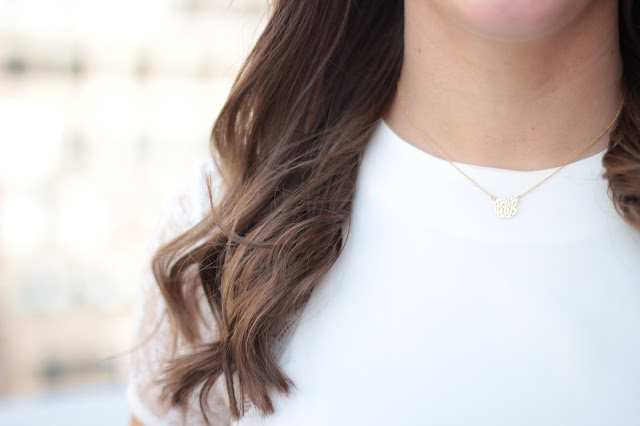 monogram necklace, mini monogram necklace, southern monogram, monogram, monogram necklace