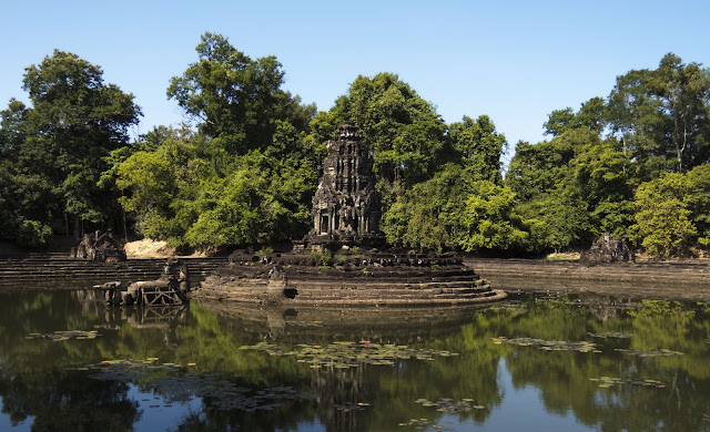 Neak Pean temple and former hospital in Cambodia