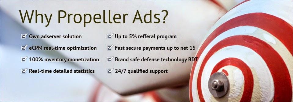 Propeller Ads, CPM Legit untuk Blog Indonesia