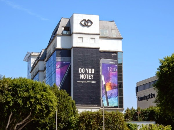 Giant Galaxy Note 4 billboard