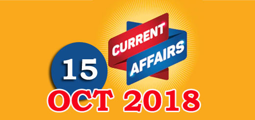 Kerala PSC Daily Malayalam Current Affairs 15 Oct 2018