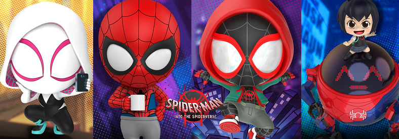 Spider-Man: Into the Spider-Verse Cosbaby Bobble-Head Hottoys