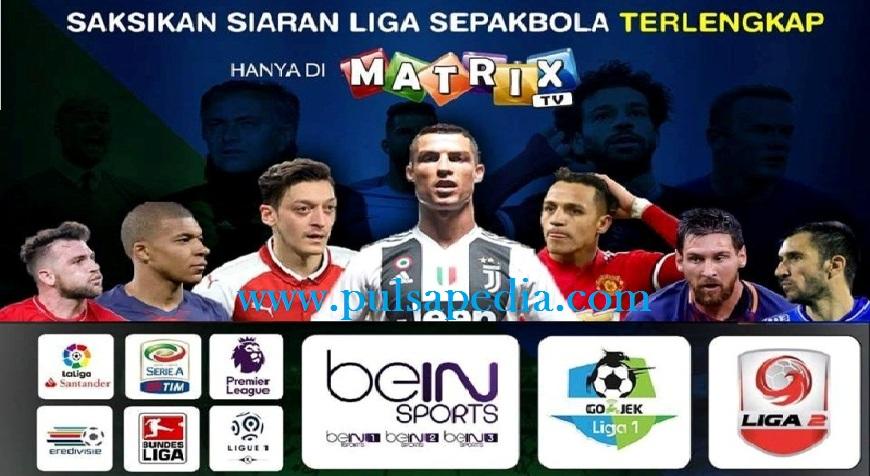 Paket Matrix Garuda Liga Inggris, Liga Spanyol, Liga Italia Serie A