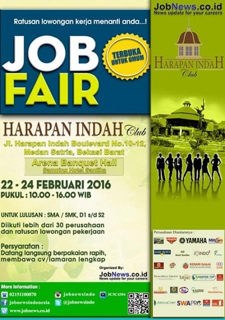 Jobfair Harapan Indah Bekasi Pada 22-24 Februari 2016