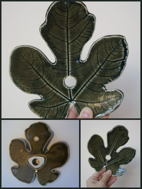 Beautiful handmade ceramic leaf for a garden totem - pottery by Lily L.