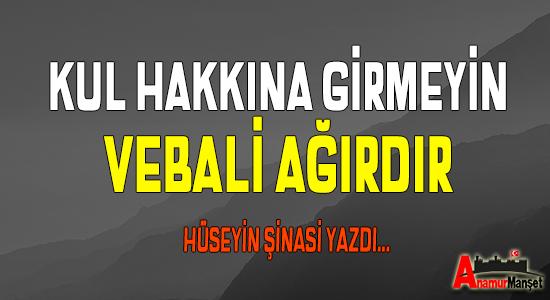 Anamur Haber, Anamur Son Dakika, Hüseyin Şinasi, YAZARLAR,