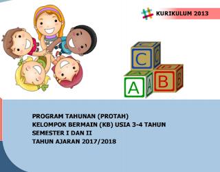 Program Tahunan PAUD Usia 2-3 dan 3-4 Tahun) Kurikulum 2013