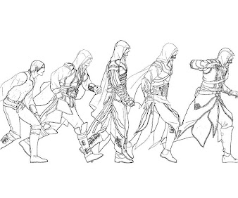 4 Assassin S Creed Coloring Page