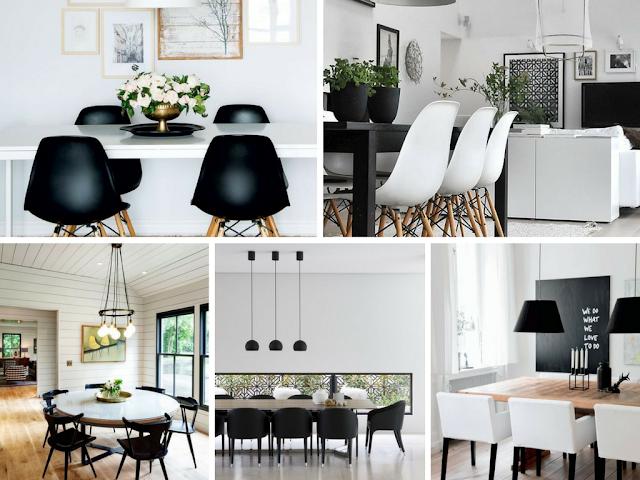 Decoração Black and White - Sala de Jantar