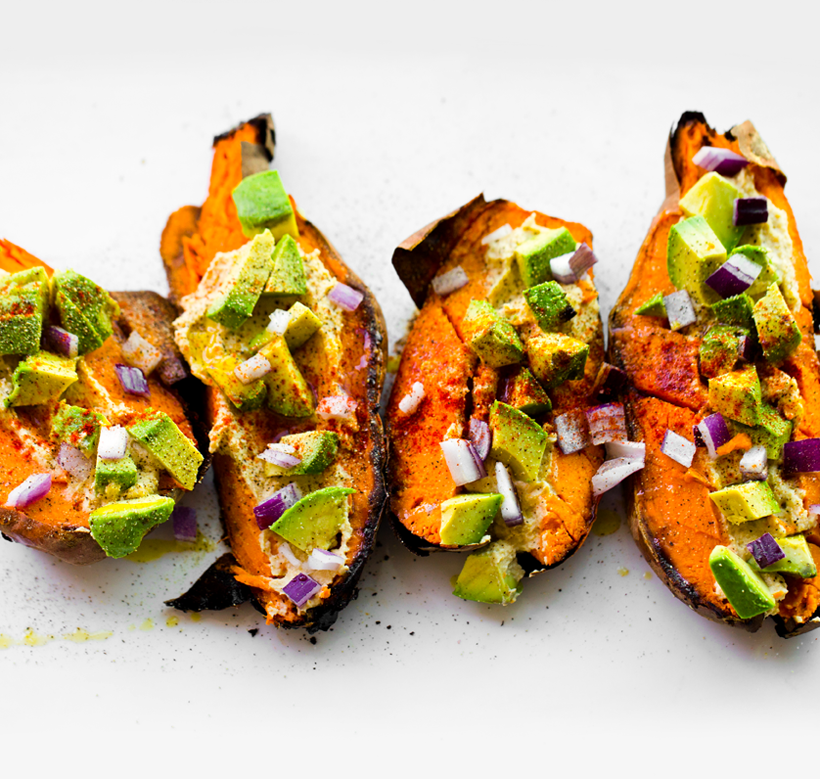 Favorite Loaded Baked Sweet Potatoes