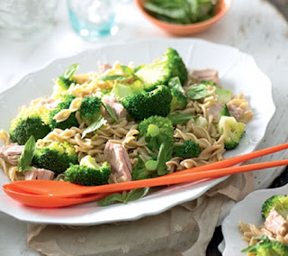 whole grain pasta with broccoli and tuna recipe