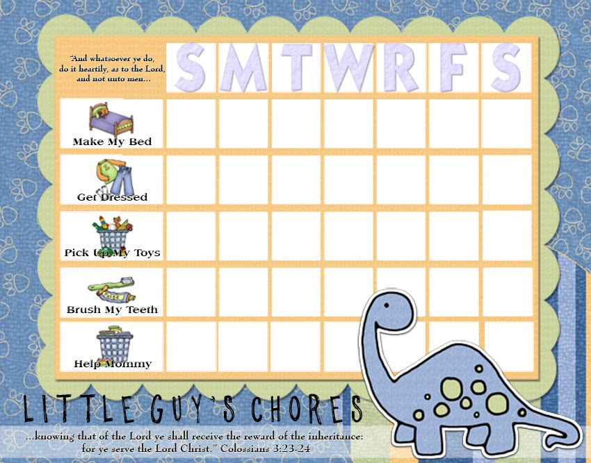 Rantin 39 ravin 39 kids chore charts for Chore list template for kids