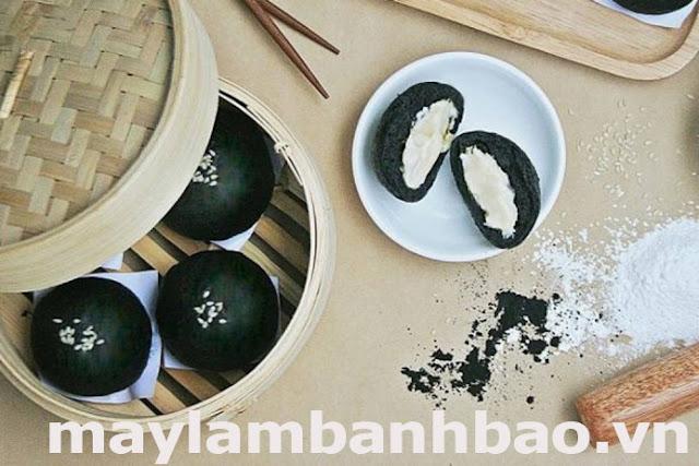 công thức làm bánh bao tinh than tre