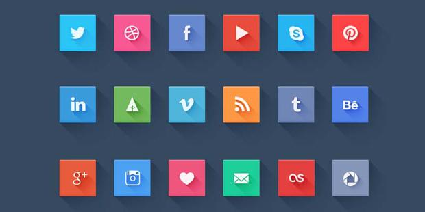 Social Icon Flat Design