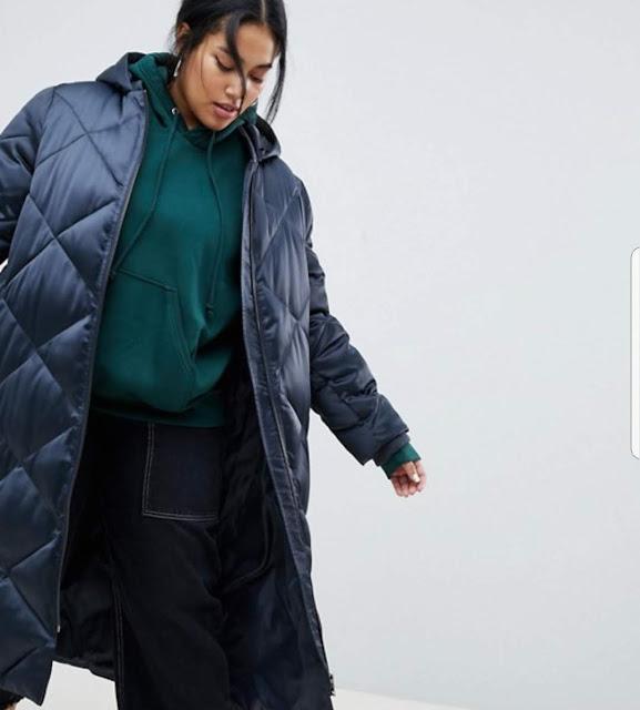 ASOS DESIGN Curve longline puffer jacket €44.49
