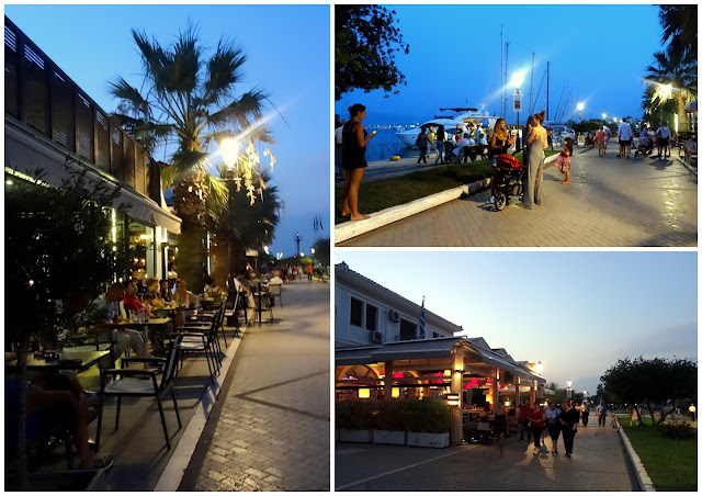 Outdoor cafes at the harbour boulevard of Preveza